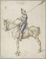 Albrecht Dürer - Soldier on Horseback Giclee Canvas Print repro