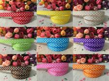"1M polka dot ribbon 3/8"" 10mm gros-grain ruban beaucoup de couleurs gâteau cartes artisanat"