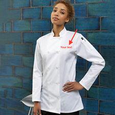 Personalised Embroidery Plain Premier Long Sleeve Ladies Chef's Jacket - PR671