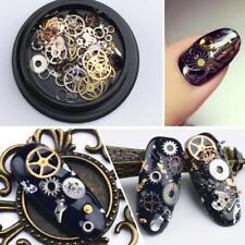 1 Pot Steampunk Nail Art Decorations Thin Wheel Gear 3D Decoration Manicure Deco
