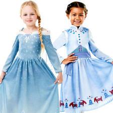 Olaf's Frozen Adventure Girls Fancy Dress Disney Princess Fairytale Kids Costume