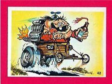 Vintage Donruss Odder Odd Rod #42 Roller Derby Card Sticker Old Store Stock