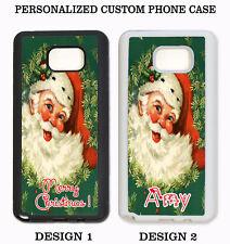 CHRISTMAS VINTAGE SANTA CUSTOM NAME PHONE Case For Samsung Galaxy S8 S7 NOTE 8 5
