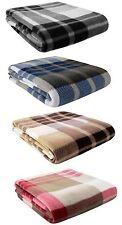 Tartan Sofa Bed Throw Warm Fleece Blanket TV Lounge Armchair Bedspread 125x150cm