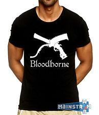 T-SHIRT MAGLIETTA BLOODBORNE CACCIATORE HUNTER CLEAVER GUN PALEBLOOD PS4