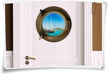 Porthole türaufkleber Door Sticker Sea Boat Caribbean Tahiti WC Toilet Bathroom