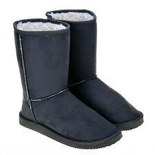 botas cómodo caliente zapatos de mujer cabello como ante gris 8243
