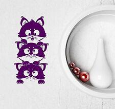 Wall Stickers Vinyl Decal Lovely Cat Kitten Pet Animal for Kids Nursery (ig2051)