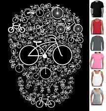 Funny T-Shirts Bicycle skull funky cool designs Men's Ladies Aussie Seller tee's