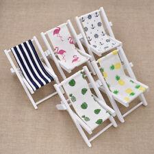 Wooden Doll Mini Flamingo Pineapple Beach Chair Home Decor Props Craft Supplies