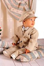ABITO DA BATTESIMO vestito elegante cerimonia beige PAGGETTO tg 62-110 cod 315