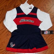Houston Texans  toddler 2 size   Two piece Cheerleader Jumper Dress