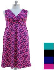 d69954338c Vestido Casual geométrico Maxi sin Mangas para mujeres