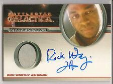 Battlestar Galactica Season 4 Costume Autograph Rick Worthy Simon