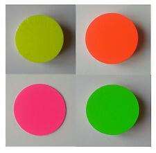 50 - 200 Kreise 15 cm  aus Karton neon Preisschild Werbung Räumungsverkauf deko