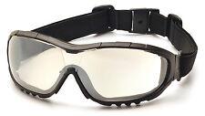 Pyramex V3G Safety Eyewear Glasses/Goggles, Foam Padding, Z87+ Protection