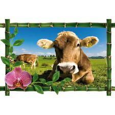 Sticker Bambou déco vaches 969