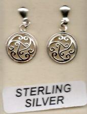 new real sterling silver 925 dangling stud filigree earring drops hook fittings
