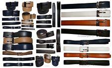 "men's belt leather dress belt automatic lock men's casual leather belt up to 50"""