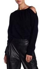 $325 NWT Vince Asymmetrical Cold Shoulder Cashmere Black Sweater sz S;sz M ;sz L