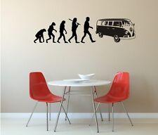 Wandaufkleber,Wandtattoo - Evolution VW Bulli - Volkswagen - Bus -Kult