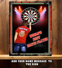 Personalised Darts Player Pub Club Bar Man Cave Shed Metal Wall Sign