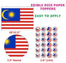 Malaysia MALESIA BANDIERA torta / cupcake topper decorazione su Commestibili Carta di riso