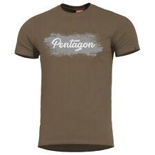 Pentagon Ageron Grunge T-Shirt Mens Active Classic Running Cotton Terra Brown
