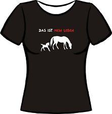 Damen T-Shirt Pferde Collage Pferdekopf Horses Horse Spirit Pferd Reiten 16648