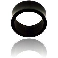 PAIR 7/8 inch 22mm BLACK TUNNELS BUFFALO HORN plugs body jewelry