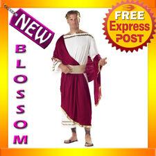 C25 Caesar Adult Roman Greek Julius Toga Costume Fancy Dress Halloween Outfit
