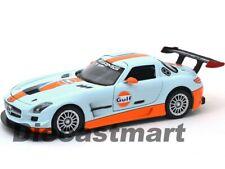 MERCEDES BENZ SLS AMG GT3 GULF OIL 1:24 DIECAST MODEL CAR BY MOTOR MAX 79646 NEW