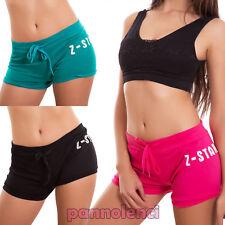 COMPLETO SHORTS TOP pantaloncino corti donna fitness elasticizzati SPORT DANZA Abbigliamento e accessori Shorts, bermuda e salopette