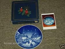 1969 Bareuther Bavaria Germany Plate Christmas Market