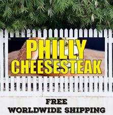 Banner Vinyl PHILLY CHEESESTEAK Advertising Sign Flag Sandwich Beef Grinders Sub