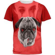 Halloween Pug Vampire All Over Adult T-Shirt