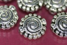 Beads Perlen Metallperlen +SILBERSCHNECKE+ 15 Stück Schnecke Schmuck basteln