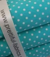 Aqua 3mm Polka Dots - 100% Cotton Fabric -  metre, 1/2 & FQ'S sheeting- lining