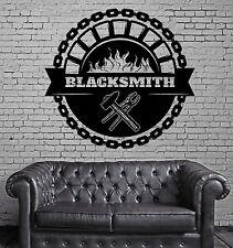 Wall Stickers Vinyl Decal Blacksmith Art Forging Metal Hard Work Decor z4818
