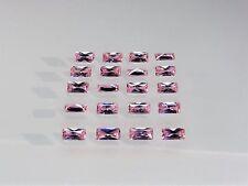 Pink CZ Baguette Princess Cut SIZE CHOICE Loose Stones Cubic Zirconia Gemstones