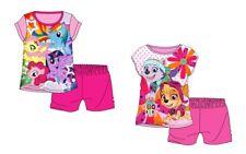 Ensemble pyjama d'été fille MY LITTLE PONY ou PAT PATROUILLE pyjacourt pyjashort