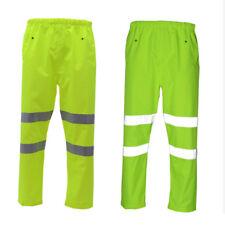 Bizflame Resistente Al Fuego Impermeable Hi Vis arco Multi Amarillo//Azul Marino Pantalones