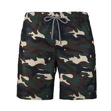 Men's Camo Swim Trunks Quick Dry Mesh Lining Side Back Pocket Beach Bath Shorts