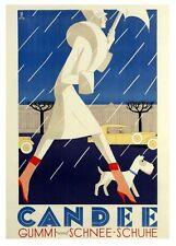 1920's Art Deco Swiss Footwear Advert Poster   A3/A2/A1 Print