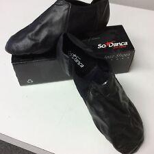 SODANCA SPLIT SOLE SLIP ON LOW CUT WOMEN BOOT BLACK NEW MULTIPLE SIZES