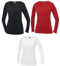 714279d3d2760 t-shirt maglia maglietta maniche lunghe girocollo elasticizzata 100%cotone  donna