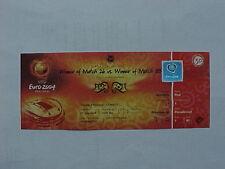 Euro 2004 SEMI FINAL Match 30 Greece v Czech Republic Complete VIP Ticket - MINT