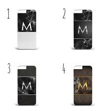 Textura de Madera Mármol Personalizado iniciales b53 Teléfono Funda Iphone Samsung