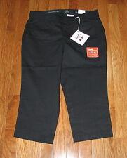 Dockers Women Metro Black or Beige Capri Pants SIZES NWT Truly Slimming Sure Fit