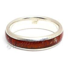 Bernstein Ring Amber Intarsie Bandring Bernsteinring 925er Silber Gr. 50-68 K249